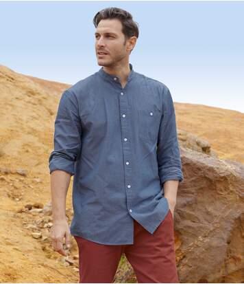 Рубашка с Воротником-стойкой от Atlas For Men