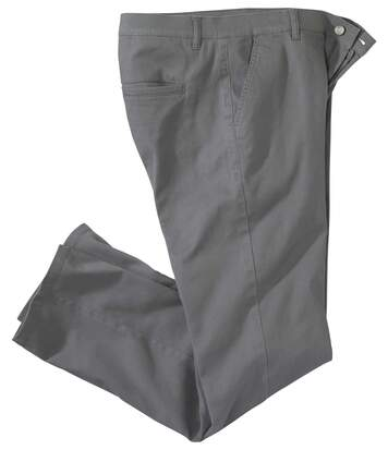 Pantalon Chino Stretch Gris