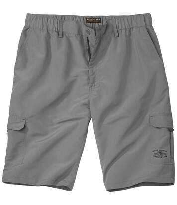 Men's Grey Microfibre Shorts