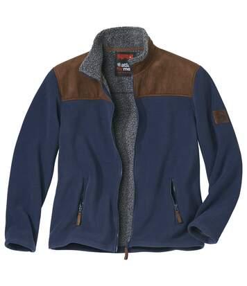 Flísová ľahká bunda podšitá imitáciou ovčieho rúna