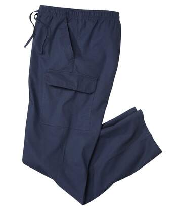 Men's Casual Cargo Trousers - Navy