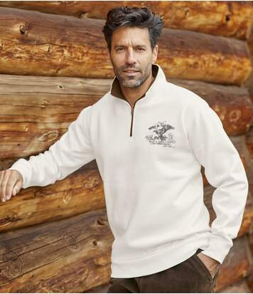 Molton-Sweatshirt Wild North mit RV-Kragen