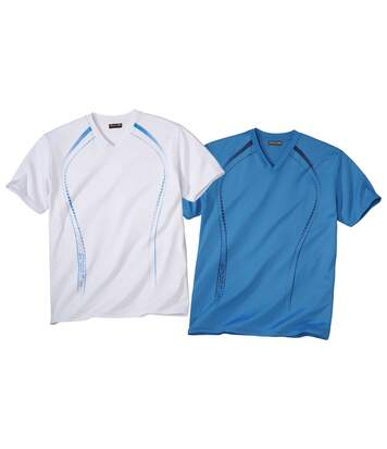 Pack of 2 Sports T-Shirts - Blue White