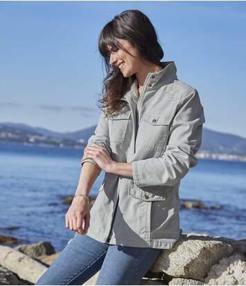 Safari-jas met origineel borduursel