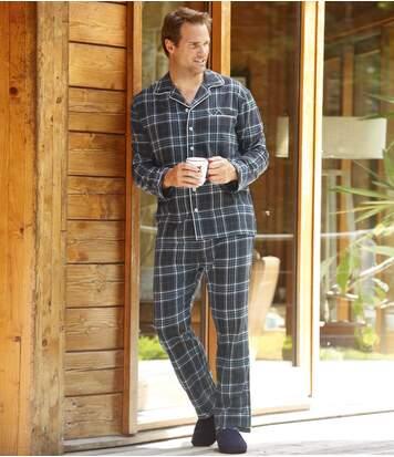 Teplé apohodlné flanelové pyžamo