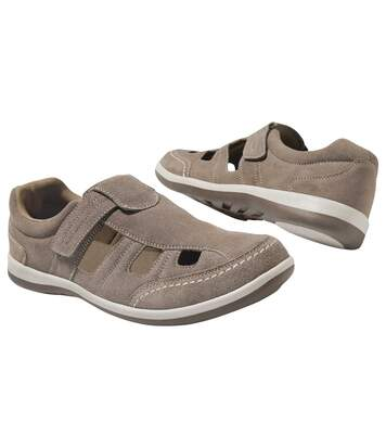 Men's Taupe Summer Moccasins