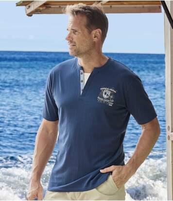 Sada 2 triček Tropical Legend s kontrastní vsadkou u krku