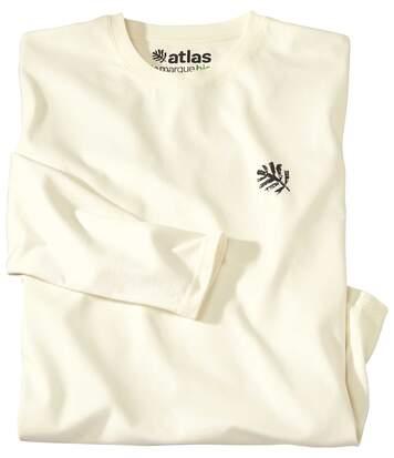 Le Tee-Shirt Homme Manches Longues Coton Bio Ecru