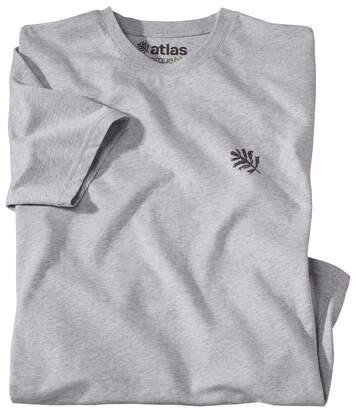 Le Tee-Shirt Homme Coton Bio Gris Chiné