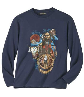Men's Indian Spirit Long-Sleeved Top - Navy