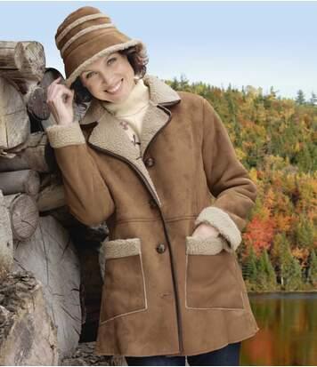 Картинка - Пальто из Искусственной Замши