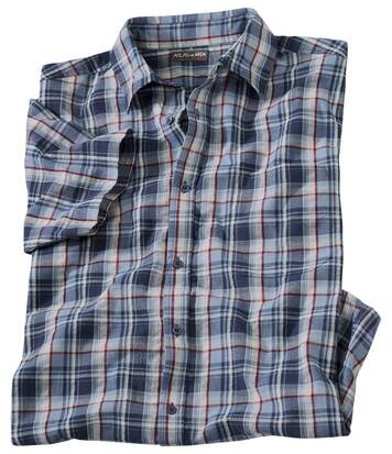 Geruit overhemd met kreuk-effect