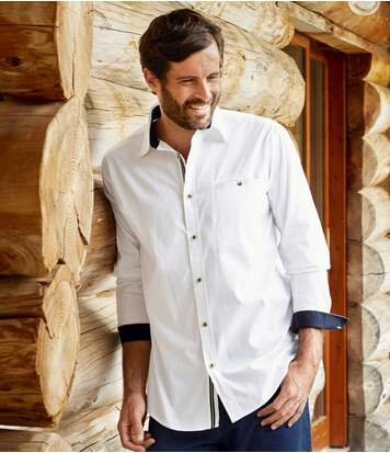 Chemise Blanche Popeline Casual