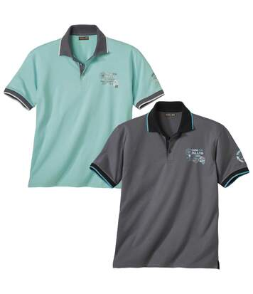 2er-Pack Poloshirts Long Beach