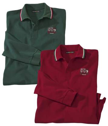 2er-Pack Poloshirts Casual in Piqué-Qualität