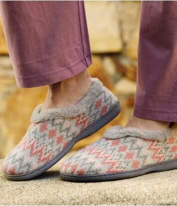 Dámske zateplené zimné papuče