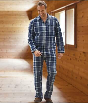 Men's Checked Flannel Pyjama Set