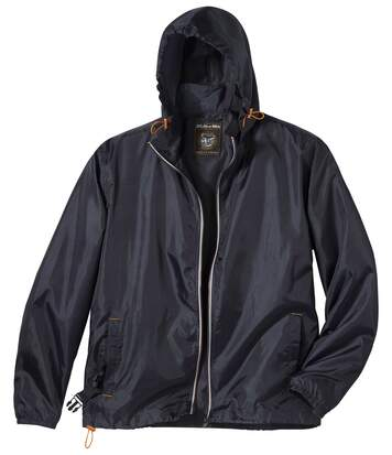 Men's Dark Grey Water-Repellent Windbreaker Jacket