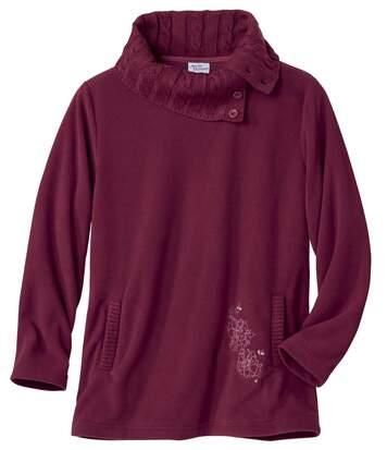 Długi sweter z mikropolaru