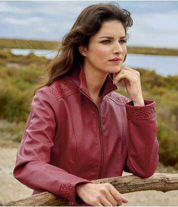 Veste Simili Cuir Arabesques