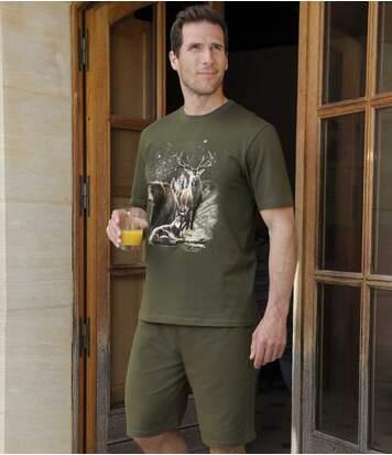 Krótka piżama z nadrukiem