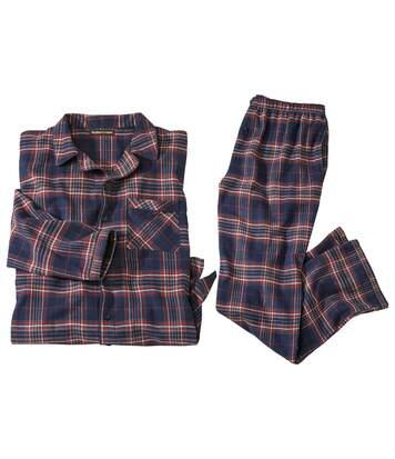 Kostkované pohodlné flanelové pyžamo