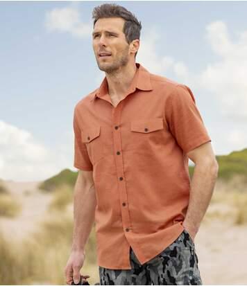 Sommerhemd aus Leinen und Baumwolle