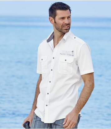 Chemise Pilote Blanche Pacific Ocean