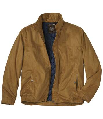 Men's Quilted Faux-Suede Jacket
