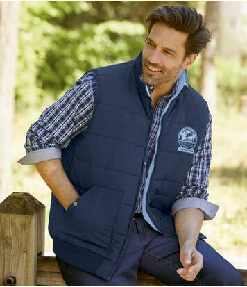Men's Navy Padded Gilet