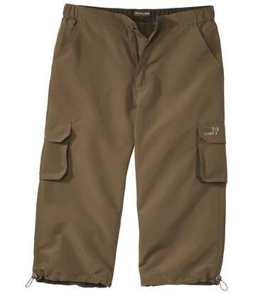 Spodnie 3/4 z mikrofibry z licznymi kieszeniami
