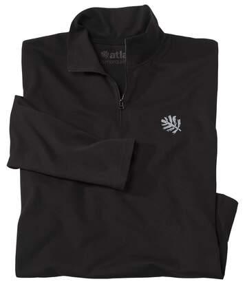 Le Polo Zippé Homme en Coton Bio Noir