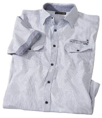 Gestreept popeline overhemd West Island