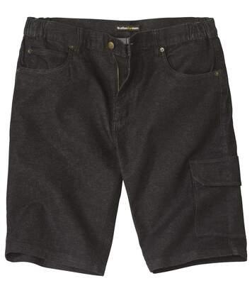 Jeans-Bermuda mit Stretch-Effekt