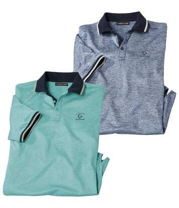 2er-Pack Poloshirts Blue Beach