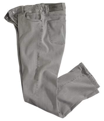 Stretch-Jeans mit teilelastischem Bund