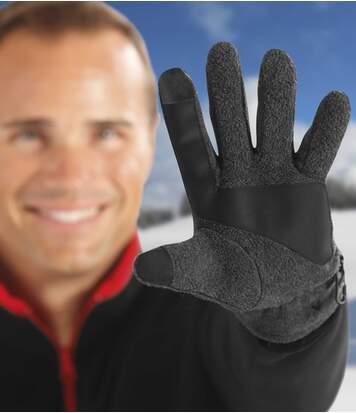 Fleecové rukavice na dotykové displeje