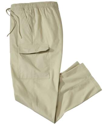 Men's Beige Cargo Trousers