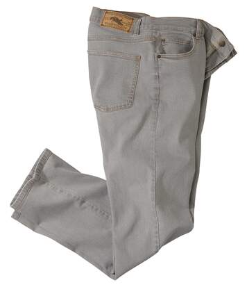 Men's Stretch Grey Jeans - Regular Fit