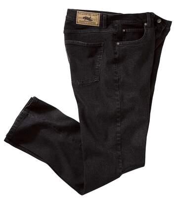Čierne strečové džínsy