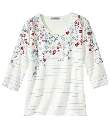 Jarné kvetinové tričko