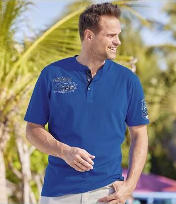 Sada 2 triček Blue Coast se zapínáním u krku