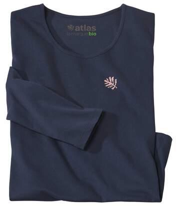 Le Tee-Shirt Femme Manches Longues Coton Bio Marine