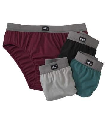 4er-Pack einfarbige Slips
