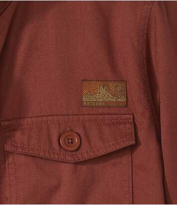 Men's Full Zip Red Safari Jacket - Arizona Valley
