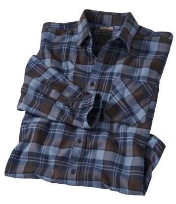 Men's Checked Flannel Shirt - Cotton - Original Explorer