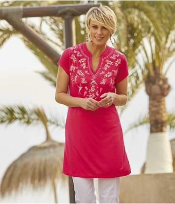 Dlouhé tričko s tuniským výstřihem
