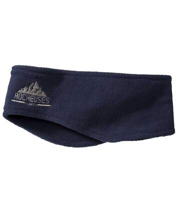 Men's Navy Blue Fleece Headband