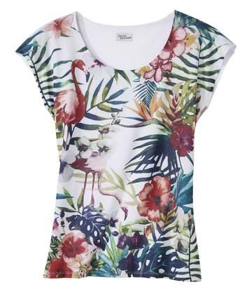 Tričko tropických barev