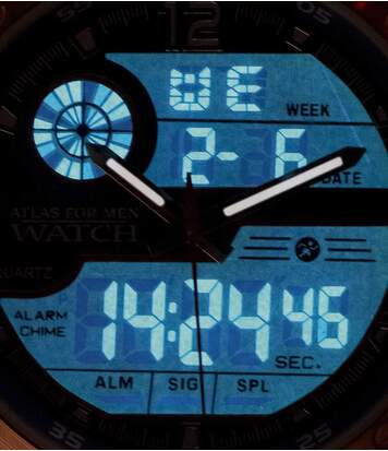 Dual Display Watch + 2 Interchangeable Straps